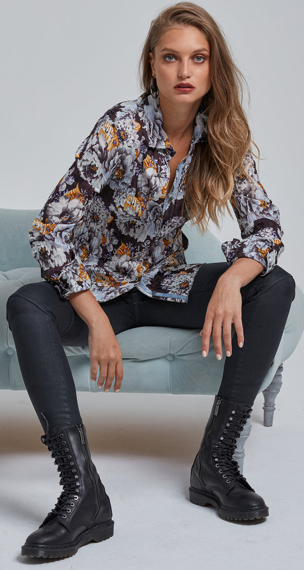SMOKEY BOUQUET BUTTON DOWN SHIRT