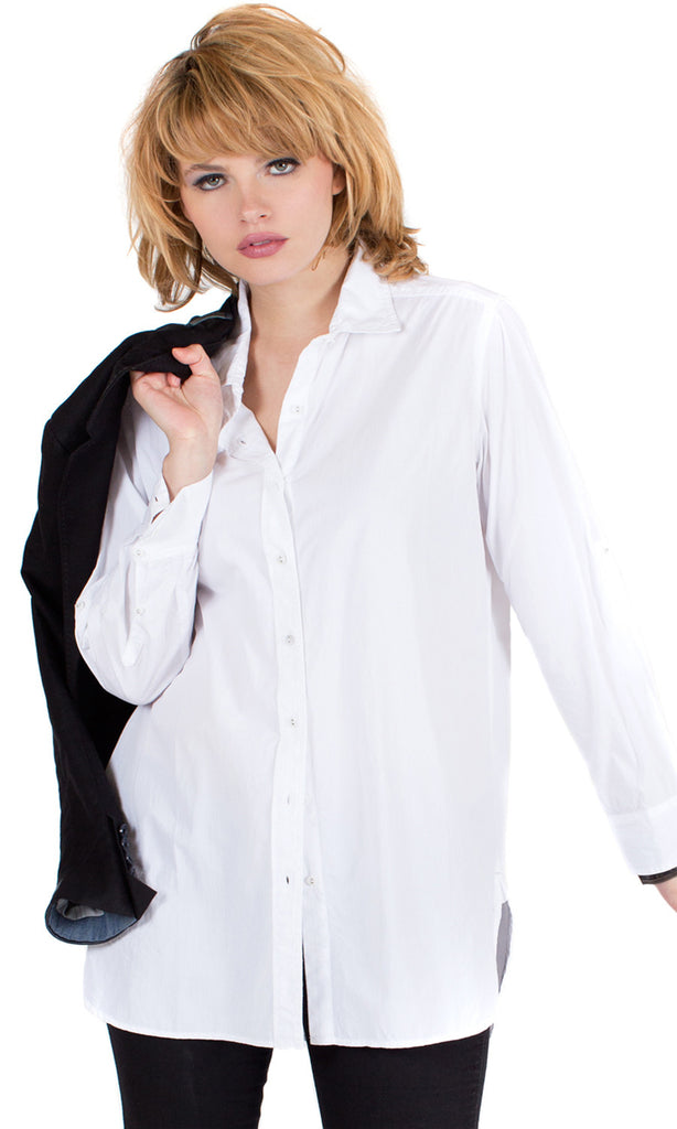 White Boyfriend Shirt