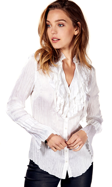 WHITE EMBROIDERED SHIRT TUNIC