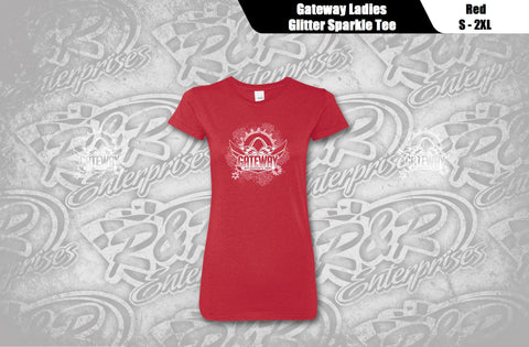 Ladies Glitter Sparkle Logo Tee