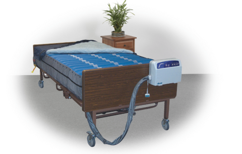 "Full / Double Size Alternating Pressure Mattress with Low Air Low System 54"" Width"