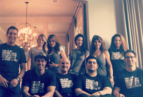 Jojo's family in Bullzerk Bachelorette tees