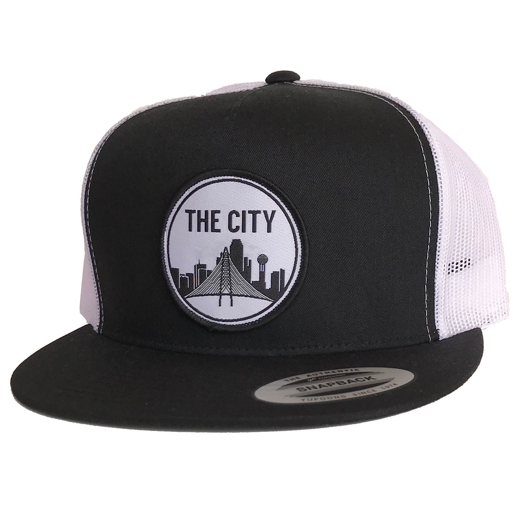 46c53cbf4 The City Patched Flat Bill Hat