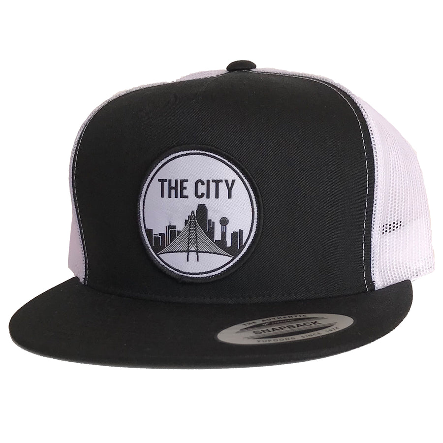 The City Patched Flat Bill Hat