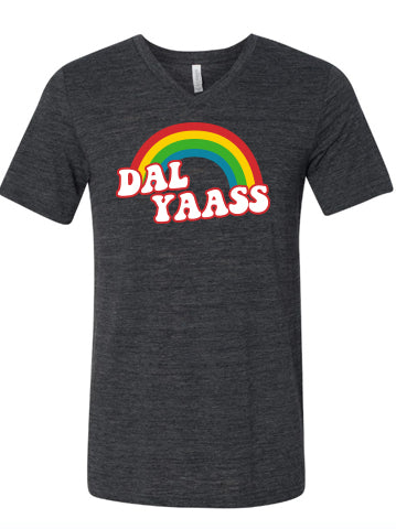 Dal Yass pride shirt from DFW in a vneck