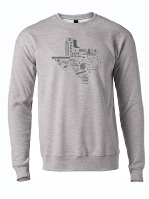 Icons Texas Silhouette Crewneck Sweater