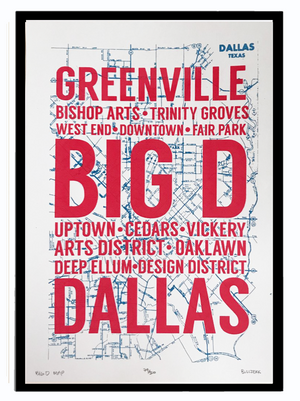 BIG D MAP Art Print