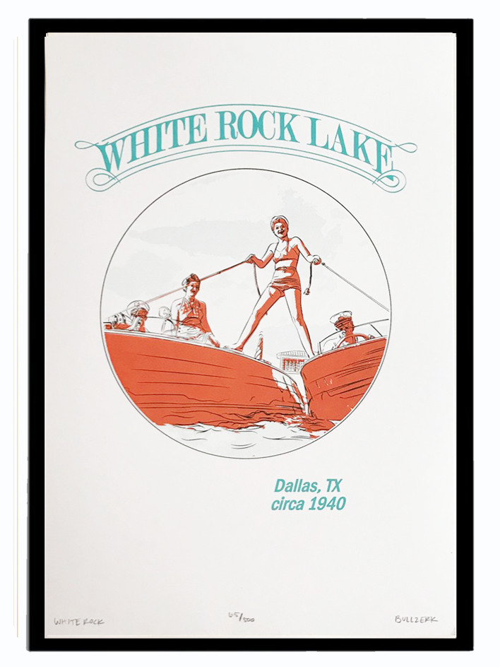 WHITE ROCK Art Print