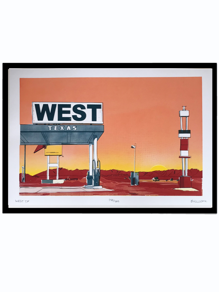 WEST TX Art Print