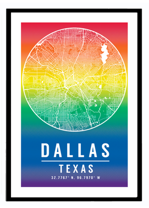 Rainbow Map Art Print