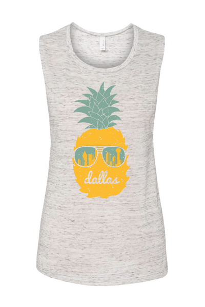 Women's Dallas Pineapple Muscle Tank - Bullzerk