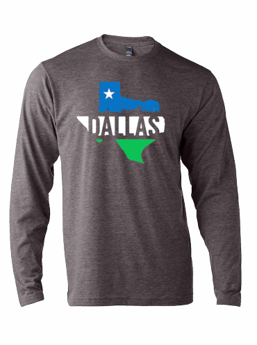 Dallas Silhouette Skyline Long Sleeve - Bullzerk