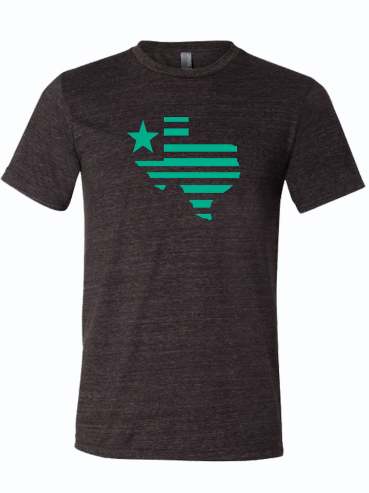 Texas Silhouette Charcoal/Teal
