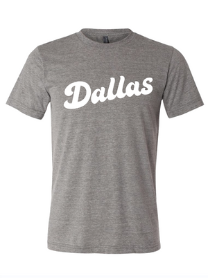 Dallas script shirt from Bullzerk in TX