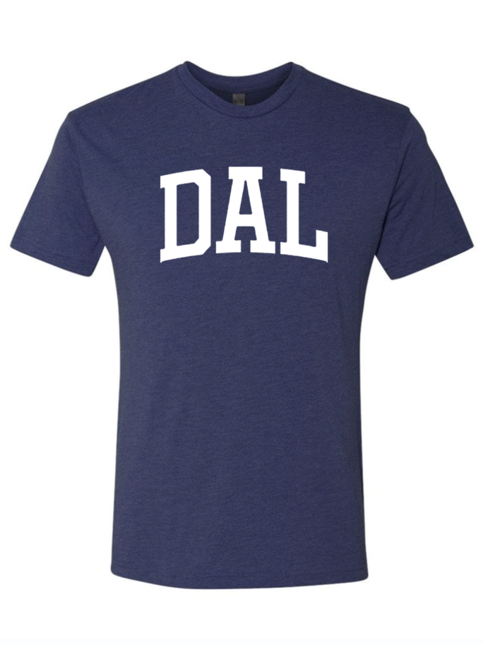 DAL shirt in navy blue from Bullzerk in Dallas Fort Worth