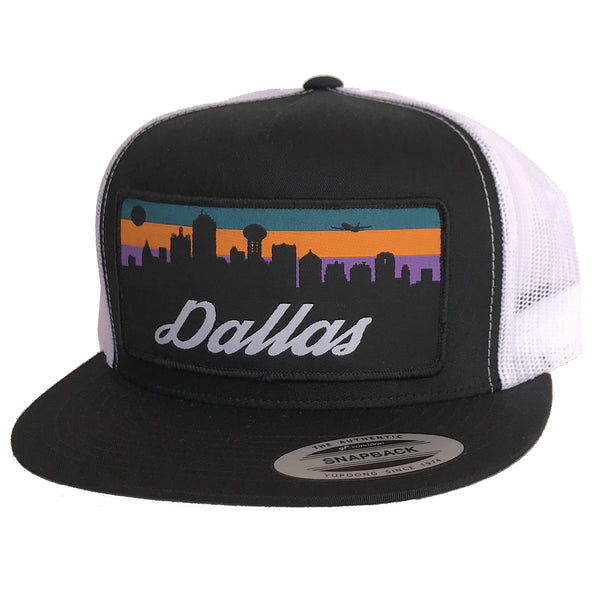 Dallas Skyline Patched Flat Bill Hat
