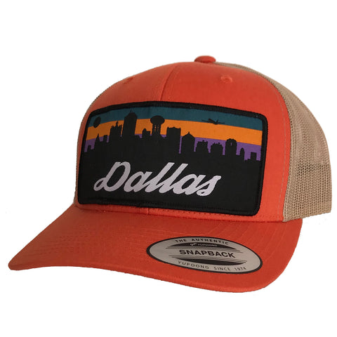 Dallas Skyline Patched Curved Bill Hat