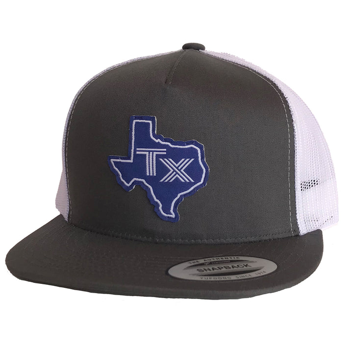 TX Silhouette Blue Patched Flat Bill Hat