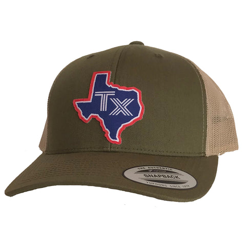 TX Silhouette Patched Curved Bill Hat