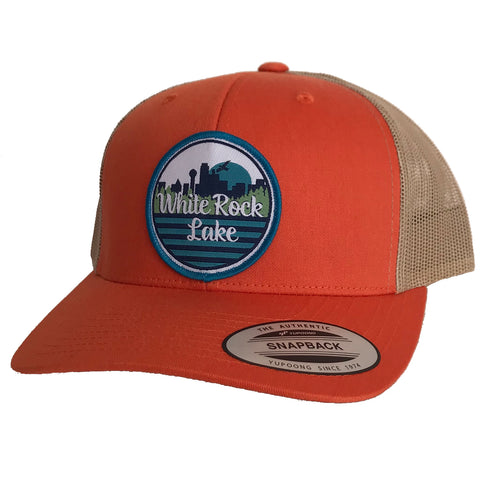 White Rock Lake Patched Curved Bill Hat