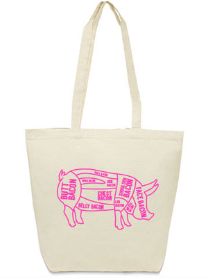 bacon tote bag from Bullzerk