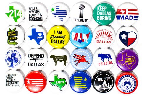 Slogan Button Magnet
