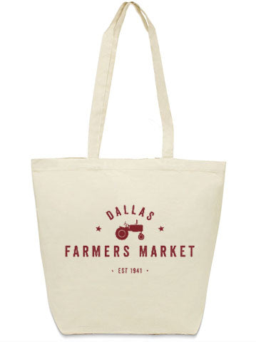 Dallas Farmers Market canvas tote bag