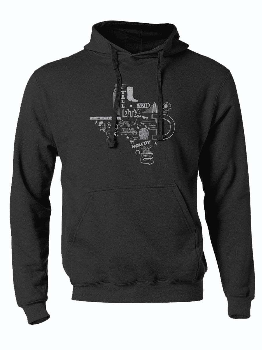 Icons Texas Silhouette Pullover Hoodie