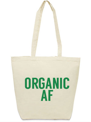 organic AF tote bag from Bullzerk in DFW