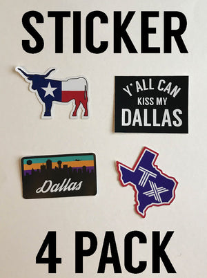 Bullzerk Stickers- 4 Pack