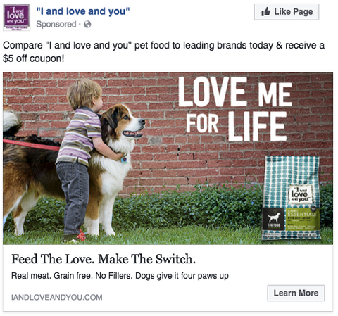 I and love and you Facebook ads