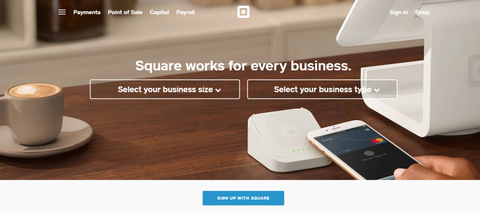 An example of a Square Space landing page.