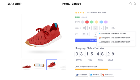 eCommerce product page optimizations