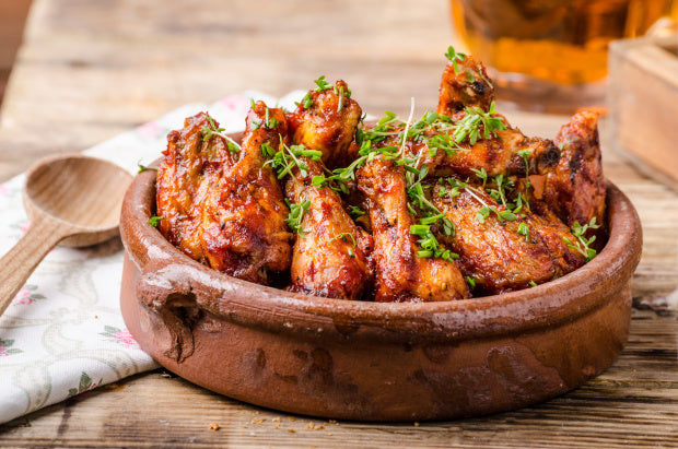 Sticky Multiflora Honey Chicken Wings