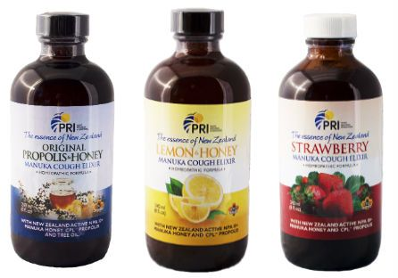 manuka honey and propolis cough elixirs
