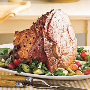 Manuka Honey Bourbon Glazed Ham