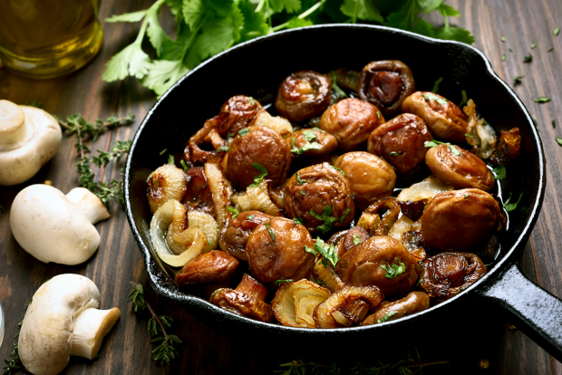 Honey Balsamic Mushrooms