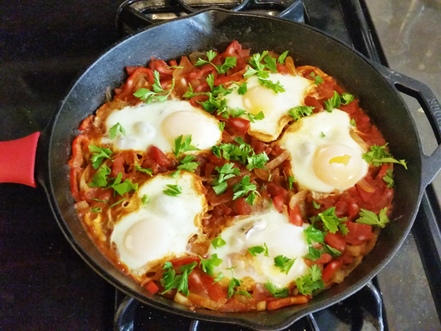 Shakshuka- Eggs In Spicy Tomato Sauce