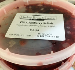 Fresh Cranberry Relish (Seasonal): $11.98/lb