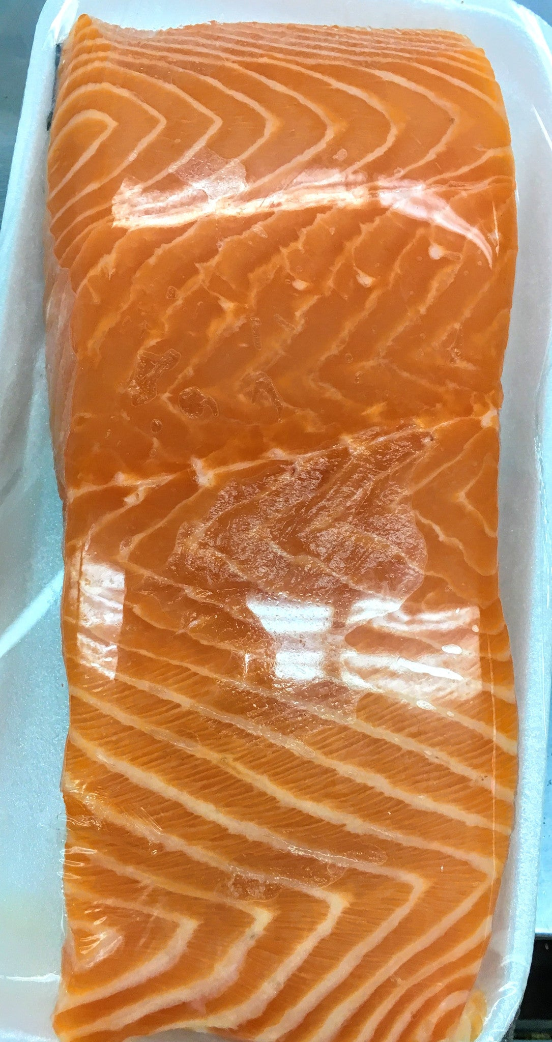 Fresh (raw) Salmon Fillet:  $18.98/lb