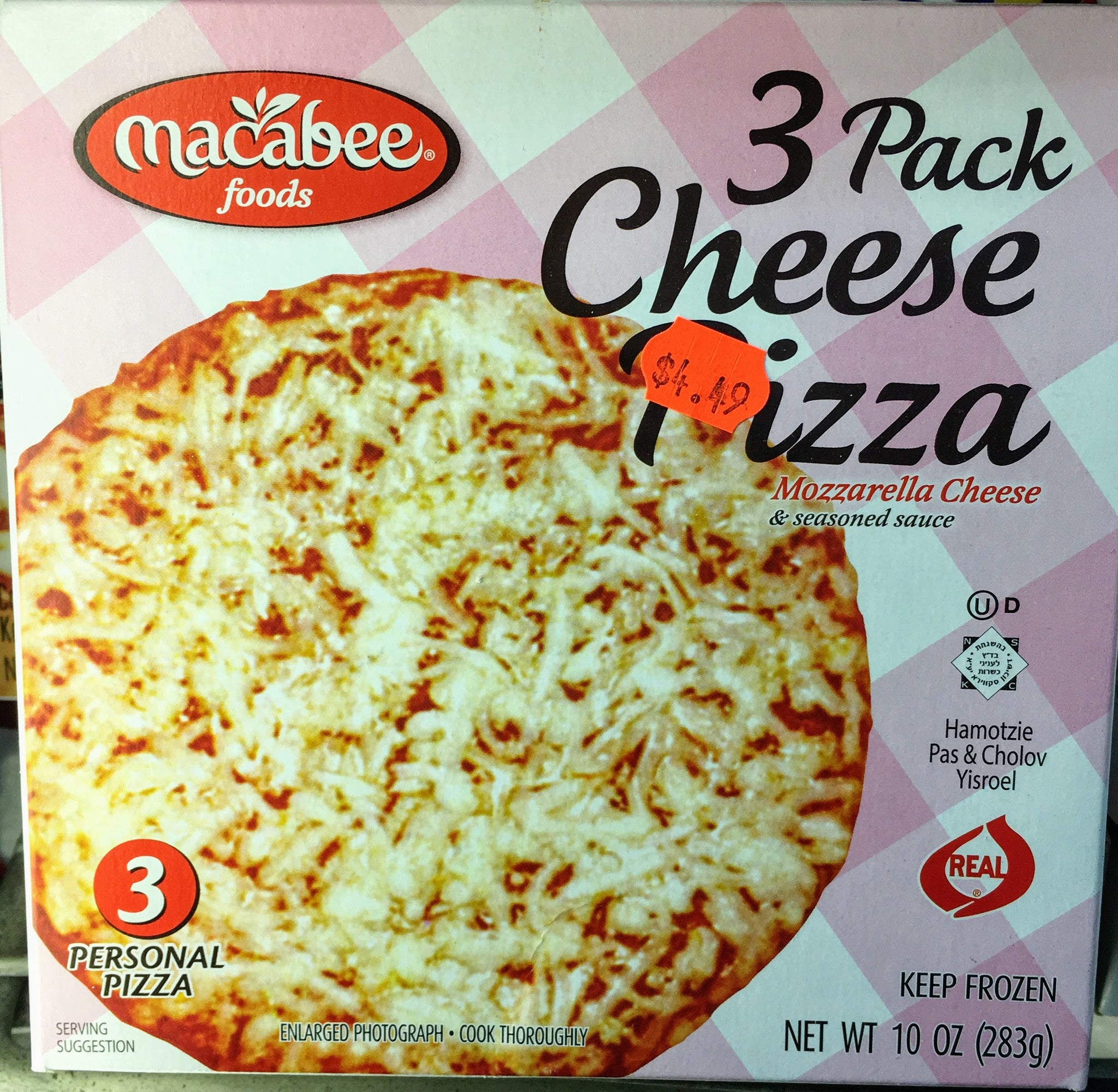 Macabee 3 Cheese Pizzas