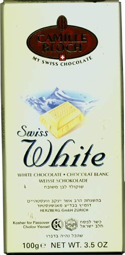 Swiss White Chocolate Bar