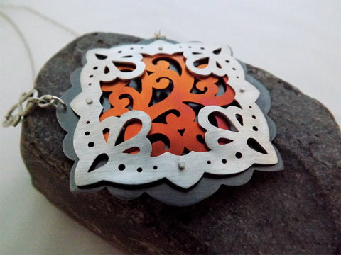 Hand-Cut Layered Pendant