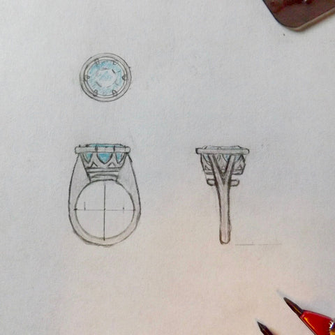 Custom Ring Design Sketch