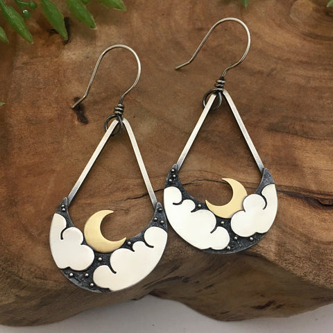Cloudy Night Earrings