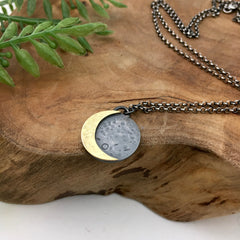 Waning Gold Crescent Moon Jewelry