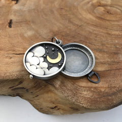 Gold Crescent Moon Locket