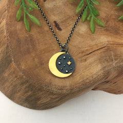 Gold Moon Pendant