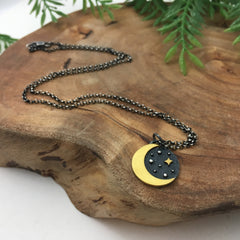 Gold Crescent Moon Charm