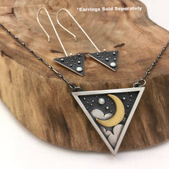 Silver & Gold Triangle Jewelry Set